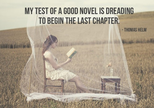 The gauge of a good novel!